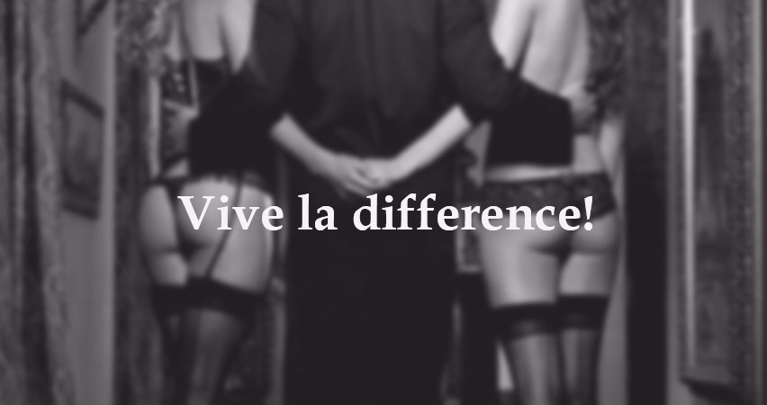 Vive la difference escorts